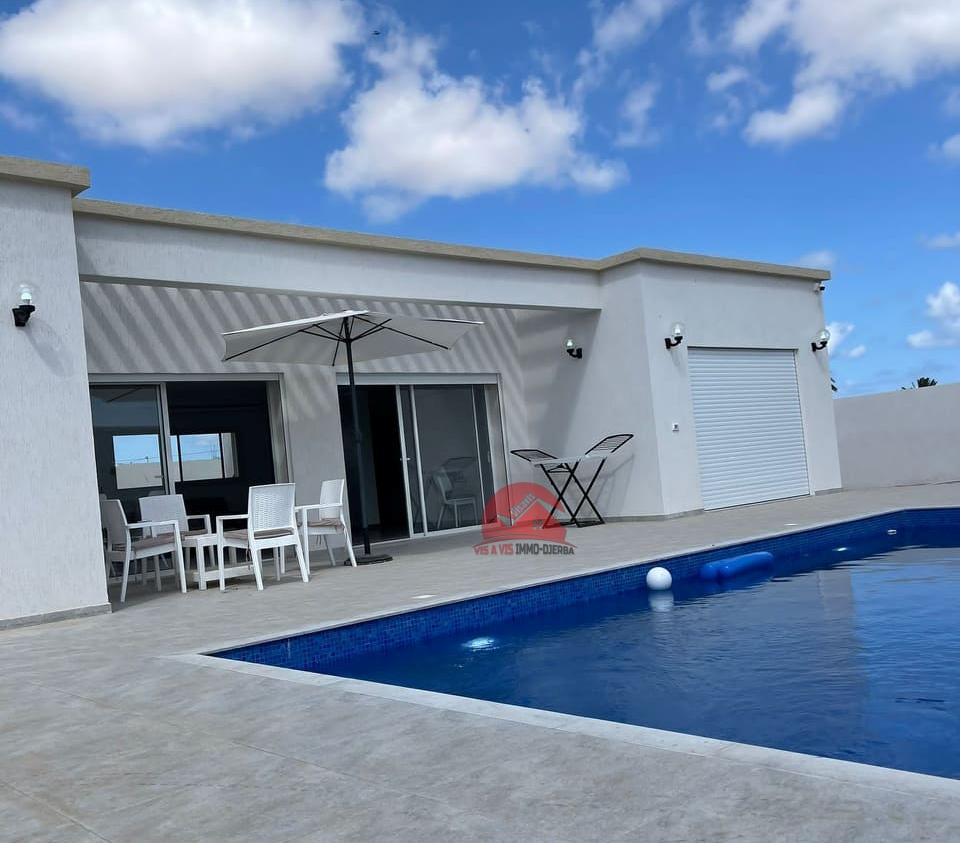 Maison plain-pied neuve à vendre sur Midoun Djerba - Réf V551