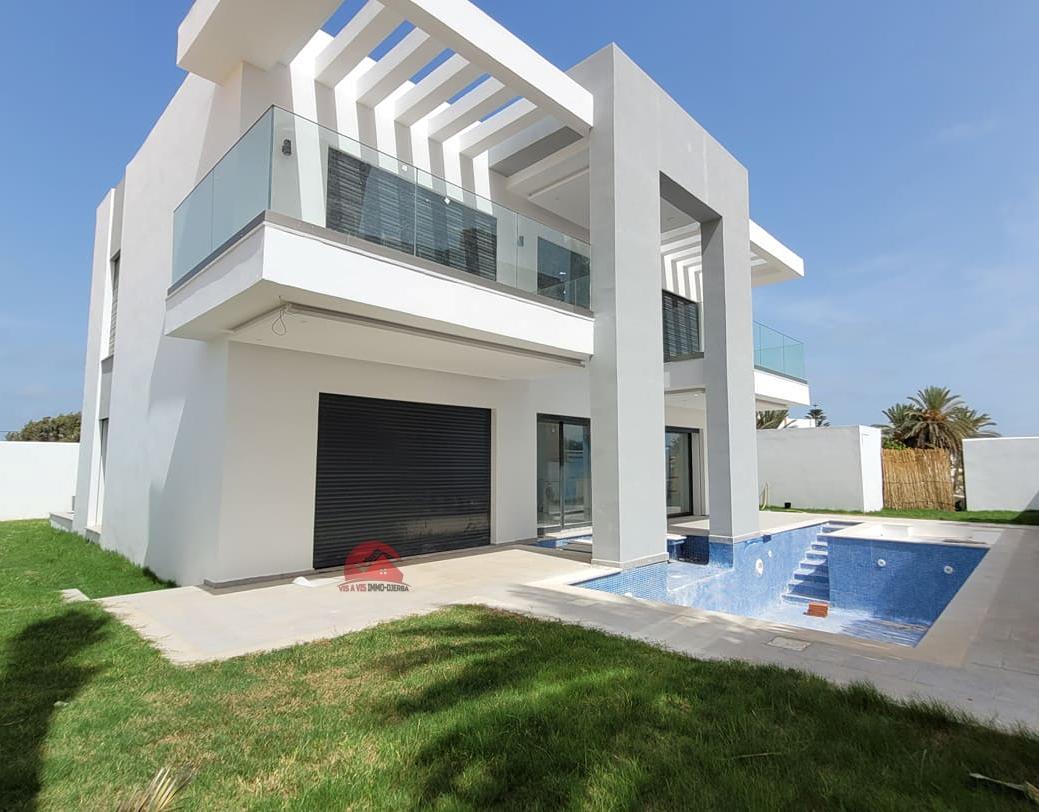 Villa style contemporain en zone touristique Djerba - Réf V543